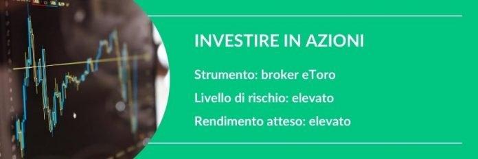 investire 1000 euro in azioni
