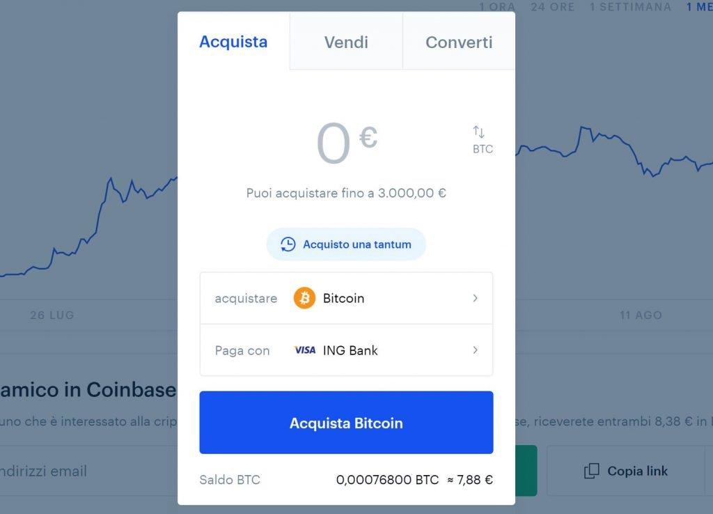 negoziazione bitcoin su coinbase)
