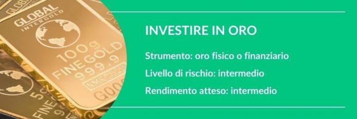 investire 5000 euro in oro