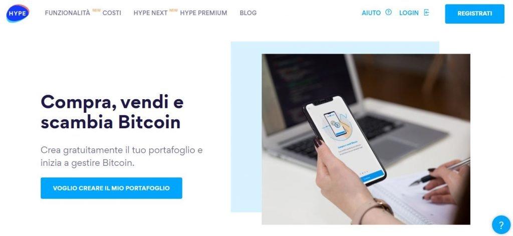convertire bitcoin in euro con hype