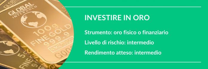 investire i soldi in oro