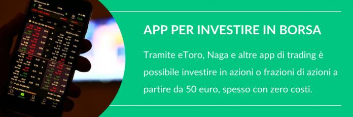 App per investire piccole somme in borsa