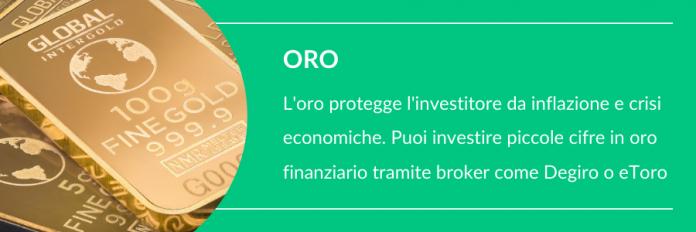 Come investire piccole somme in oro