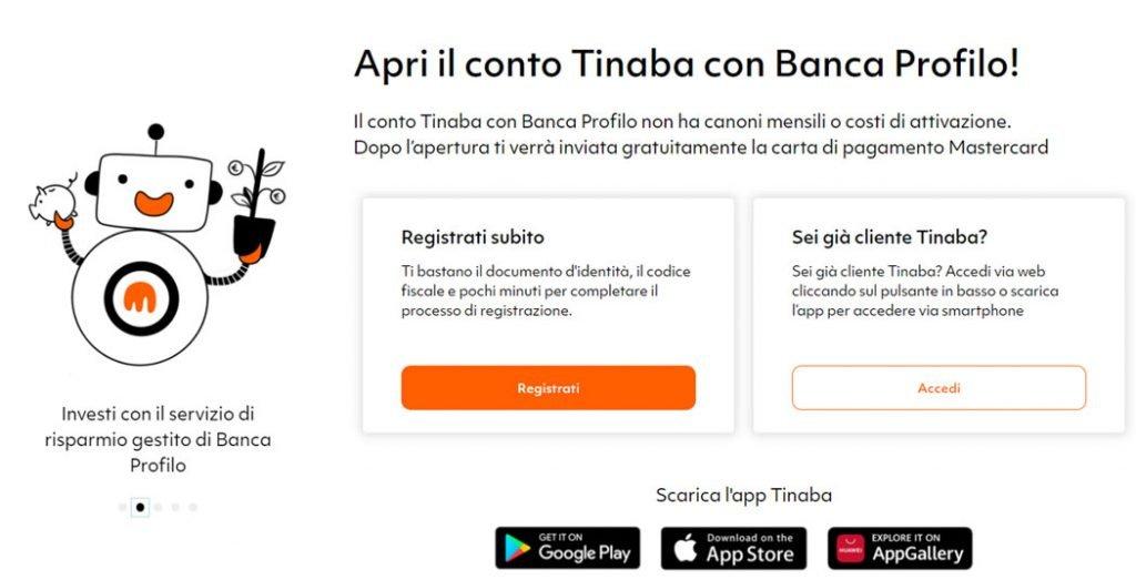 tinaba robo advisor registrazione