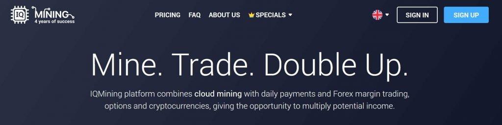 come registrarsi a iq mining