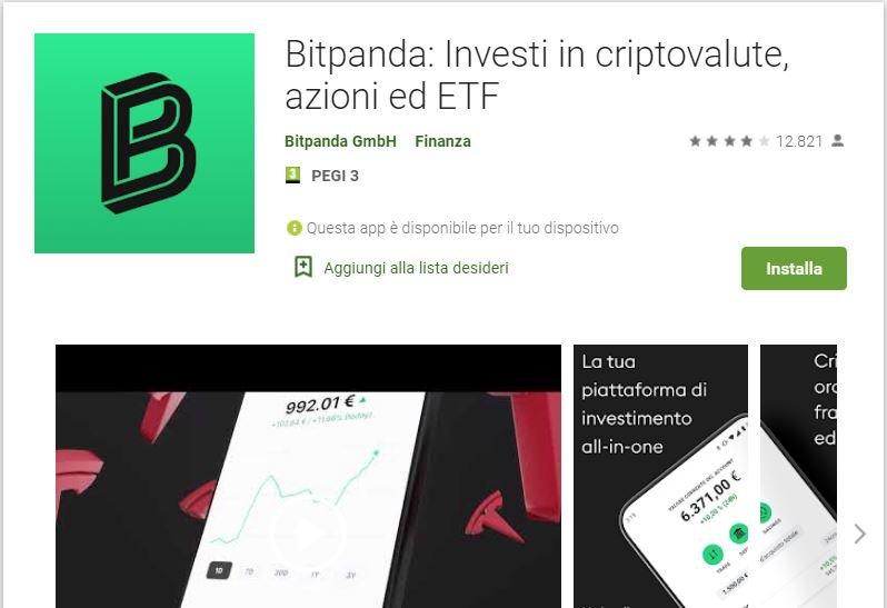 app per comprare azioni bitpanda