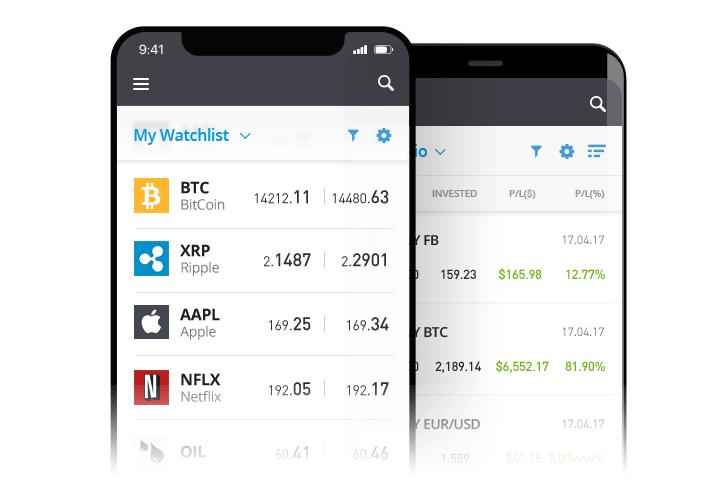 app per investire in azioni etoro