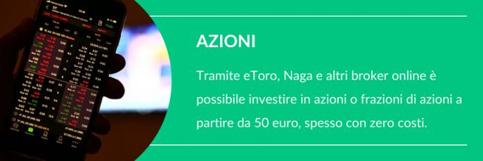 come investire 200 euro in borsa