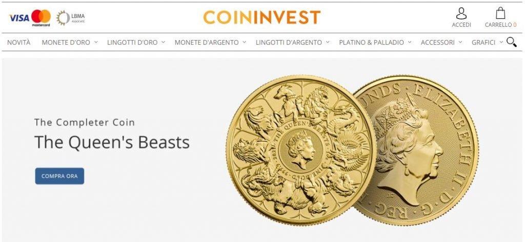 comprare oro online coininvest