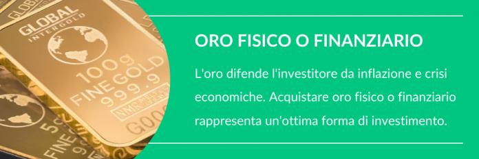 investire 50000 euro in oro