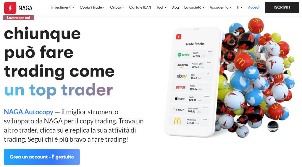piattaforme copy trading naga